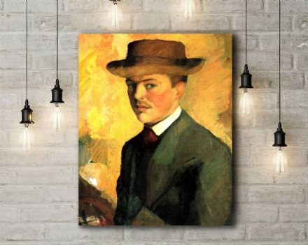 August Macke: Self Portrait. Fine Art Canvas.